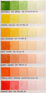 Color Chart Of Winsor Newton Professional And Schmincke