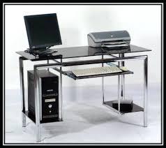 black glass computer desk classy within decor desks uk black glass computer desk