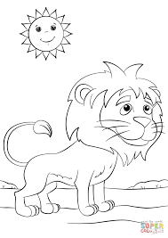 Small Picture Cute Cartoon Lion coloring page Free Printable Coloring Pages