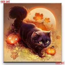diamond painting diy Halloween pumpkin ...