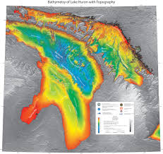 Noaa Bathymetric Charts Bathymetry Of Lake Huron Ncei
