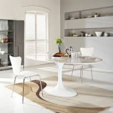 ... Exciting Image Of Dining Room Design With Oval Tulip Dining Table :  Divine Image Of Dining ...