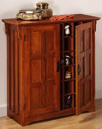 Image of: Wood Shoe Cabinet With Doors