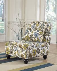 armless accent chairs living room. ashley 2550046 hariston armless accent chair floral fabric upholstery - main image chairs living room g