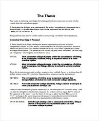 College Thesis Outline Developing A Thesis