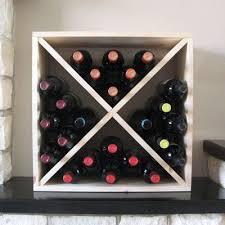 cube wine rack. Interesting Rack Pine Wooden Wine Rack  Cellar Cube 24 Bottles 223mm Deep With A