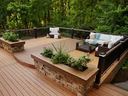 Deck Style Outdoor Design Landscaping Ideas Porches Decks