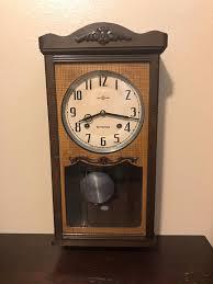 vintage antique japanese seikosha schoolhouse wall clock seiko running wooden