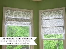 diy tutorial diy roman shade valances using mini blinds