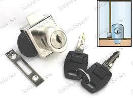 showcase cabinet double swing glass door lock ks2000
