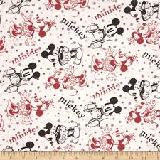 518 best Fabulous Fabric images on Pinterest   Quilting fabric ... & Disney Minnie & Mickey Flannel Editorial White from Designed by Disney and  licensed to Springs Creative Products, this cotton print is perfect for  quilting, ... Adamdwight.com