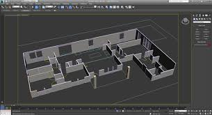 extruded floor plan walls for 3d rendering
