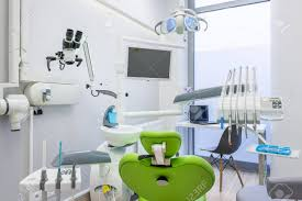 Digital Radiography White Interior With Modern Dental Unit Screen And Digital Radiography