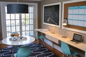 Home office wall ideas Command View In Gallery Share Your Home Office With Your Partner In Style design Residents Understood Decoist 20 Chalkboard Paint Ideas To Transform Your Home Office
