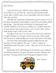 Letter For Parents At End Of Year Letter To Parents