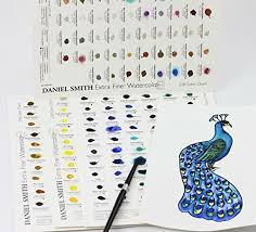 Daniel Smith Watercolor Dot Chart Details About Daniel Smith 001900501 Extra Fine Watercolor 66 Dot Try It Card New Free Shipp