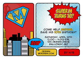 superheroes birthday party invitations free superhero invitation templates oyle kalakaari co