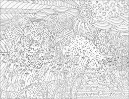 coloring book page with beautiful landscape stock vector ilration of drop