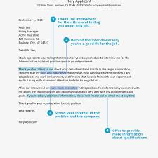 Thank You Letter Example For An Administrative Interview