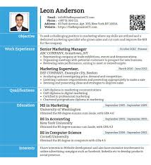 online free cv template online cv builder with free mobile resume and qr code resume maker