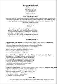 Firefighter Resume Amazing Firefighter Resumes Templates Professional Firefighter Templates To