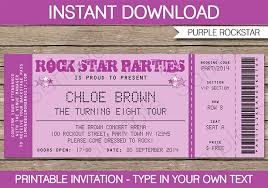 Invitation Ticket Template Concert Ticket Invitation Template Free Best Of 100 Of Teacher Party 36