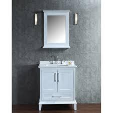 Ariel by Seacliff Nantucket 30 White Single Sink Bathroom Vanity