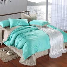 luxury bedding set king size blue green turquoise duvet cover grey sheets queen double bed in a bag linen quilt doona bedsheets bedlinens fieldcrest bedding