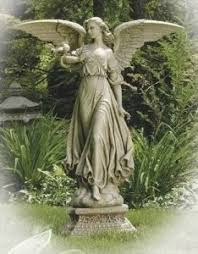 angel garden statue. natural stone classic angel garden statue