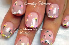 Easy Nail Art for beginners | DIY Spring flower Nails Design ...