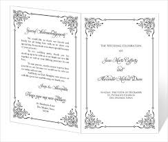 Wedding Program Templates Free Word Free Wedding Program Templates Word Under Fontanacountryinn Com