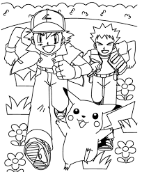 Small Picture Ash And Pikachu Coloring Pages Pokemon Cartoon Coloring pages of
