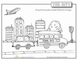 Small Picture City Worksheet Educationcom