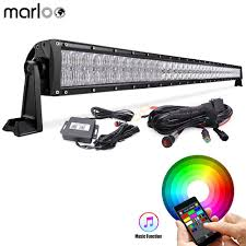 Color Changing Led Light Bar For Truck Us 207 92 13 Off Marloo 50 Inch 288w Led Light Bar 5d Rgb Truck Offroad Color Changing Led Bar With Mounting Brackets Wiring Harness In Light