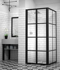 large size of shower doors ten chic ways to use black framed shower doors