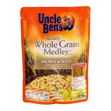 uncle ben s ready whole grain medley brown wild