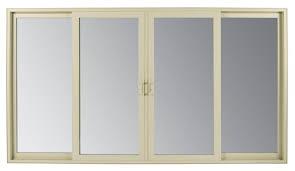 renaissance series contemporary style sliding patio doorthe amsco renaissance series contemporary style sliding patio door is shown here in an almond
