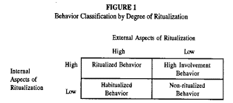 consumer ritualization exploring the relationships between  behavior classification by degree of ritualization