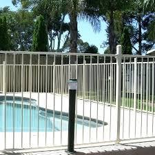 metal pool fence phoenix n fencing fences round upright rail high primrose metal pool fence