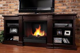 image of media console electric fireplace designs