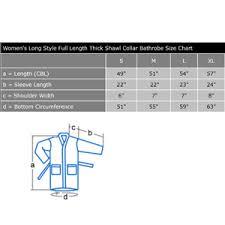 Shawl Size Chart Arus Womens Long Style Full Length Thick Shawl Collar Turkish Bathrobe