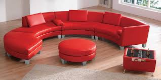 round sectional sofa bed. Red Round Sectional Sofa 2018 / 2019 Appealing Sofas Design Ideas Glamorous Genuine Leather Chesterfield As Well Modern Bed