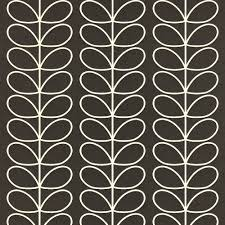 Orla Kiely Behang Linear Stem Black