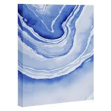 blue lace agate art canvas laura