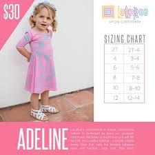 Lularoe Kids Size Chart Lularoe Adeline Sizing Chart With Price Lularoe Kids