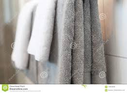 Folded hanging towel Pocket Folded Gray And White Towels Dreamstimecom Folded Gray And White Towels Stock Image Image Of Fluffy Hanging