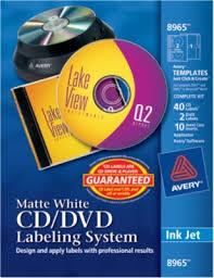 How To Label Dvds Avery 8965 Inkjet Cd Dvd Design Kit Labeling System Non Glossy