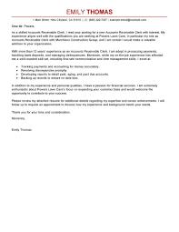 Accounts Receivable Specialist Resumes Accounts Receivable Specialist Cover Letter Under