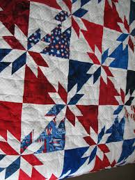 Patriotic Quilt Patterns Magnificent All American Patriotic Quilt Machine Quilted Star Pattern Www