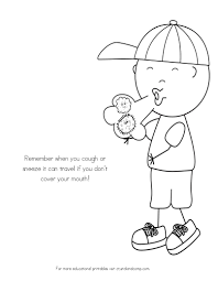 No More Spreading Germs Coloring Pages